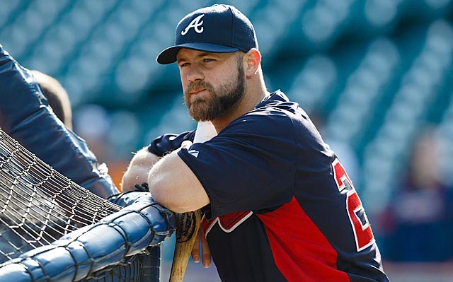 Even with his clout and versatility, Atlanta has too much talent for Evan Gattis to get more starts.