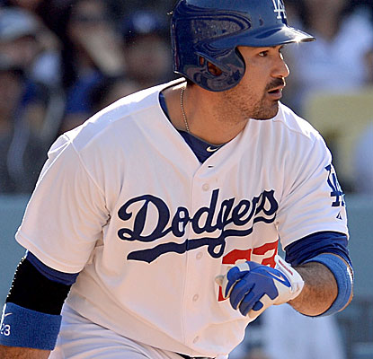 Adrian Gonzalez homers and drives in three runs for the Dodgers, who get a much-needed victory. (USATSI)