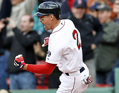 Jacoby Ellsbury hits a two-run, game-ending double in the bottom of the ninth in Boston's win over Cleveland. (USATSI)