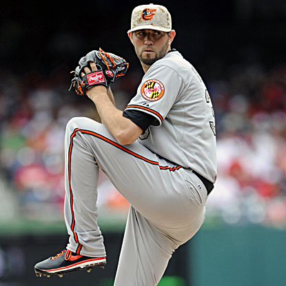Orioles pitcher Jason Hammel improves to 7-2 after striking out eight without a walk in eight innings. (USATSI)