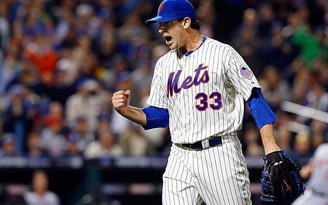 In a marquee matchup of young aces, Matt Harvey bested Washington's Stephen Strasburg in April. (Getty Images)