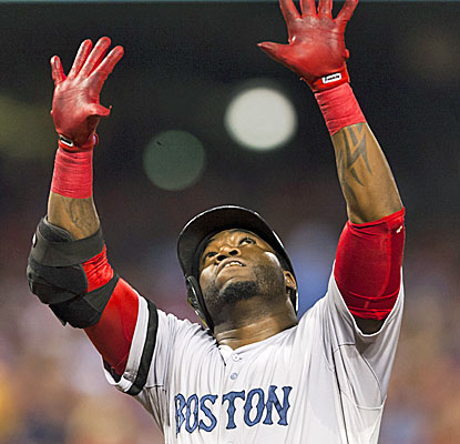 Red Sox slugger David Ortiz homers, walks twice and also scores two runs against the Phillies. (USATSI)