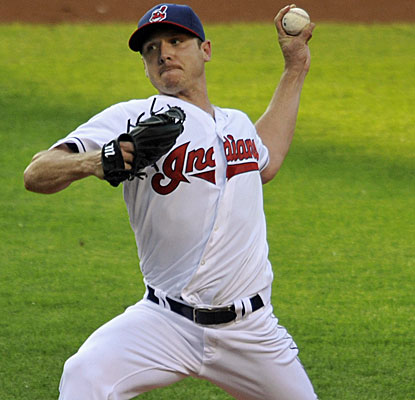 Cleveland's Scott Kazmir records his longest outing in the majors in three years, dodging a bases-loaded jam in the third. (USATSI)
