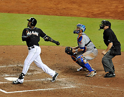 Marcell Ozuna has three hits to help the Miami Marlins top the Mets and snap a nine-game losing streak. (USATSI)