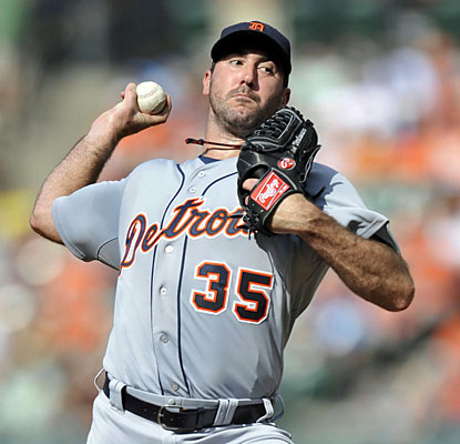 Tigers ace Justin Verlander, who wins his third straight start, improves to 8-0 lifetime against the Orioles. (USATSI)