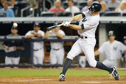 Brett Gardner's two-run single in the sixth inning puts the Yankees in front for good.  (USATSI)