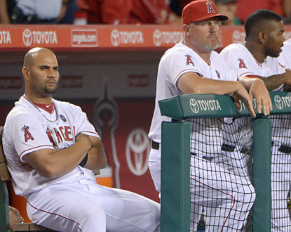 Albert Pujols and the struggling Angels suffer an embarassing four-game sweep against the last-place Astros. (USATSI)