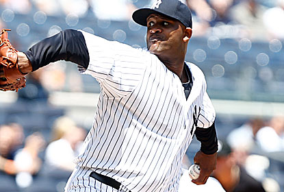 Perfect for nearly his first five innings, CC Sabathia strikes out nine as he tosses his first complete game of 2013. (USATSI)