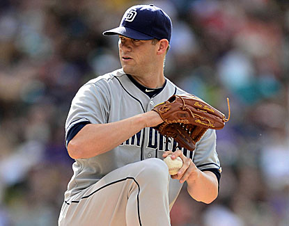 Eric Stults improves to 5-5 with seven strong innings in San Diego's 4-2 win over Colorado. (USATSI)