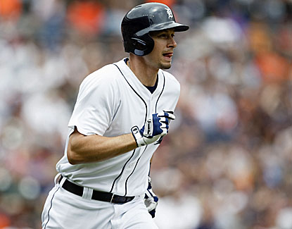 Don Kelly watches his go-ahead three-run home run leave the yard in Detroit's win over Cleveland. (USATSI)