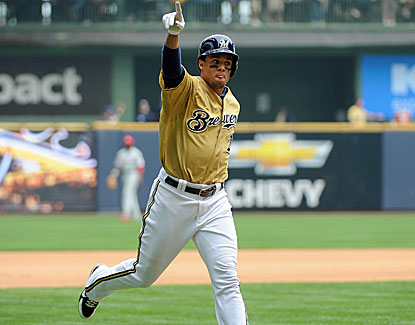 Carlos Gomez drills a two-run homer on Carlos Gomez bobblehead day as Milwaukee blows out Philadelphia. (USATSI)