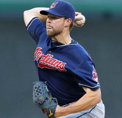 Cory Kluber goes eight innings and allows one run to give the Indians a much-needed win in Arlington.  (USATSI)