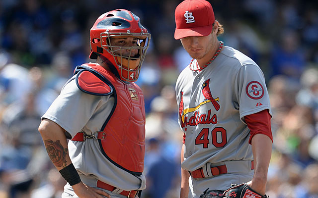 Yadier Molina has the faith of pitchers like rookie Shelby Miller, who rarely shake off the catcher's calls. (USATSI)