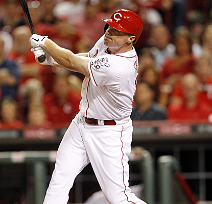 Jay Bruce connects for a walk-off home run in the 10th inning as the Reds knock off Milwaukee.  (USATSI)