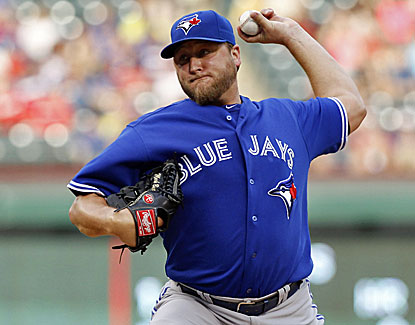 Toronto's Mark Buehrle improves to 13-5 all-time against Texas with seven scoreless innings on Friday. (USATSI)