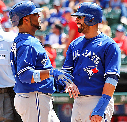 The Blue Jays remain hot, finishing off a four-game sweep of the Rangers for their fifth straight win.  (USATSI)