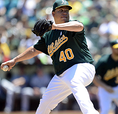 Bartolo Colon continues to defy age, winning his sixth straight decision to help the A's avoid a sweep.  (USATSI)