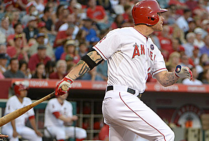 Josh Hamilton has a hand in the Angels' offensive outburst, hitting a two-run shot in the second inning. (USATSI)