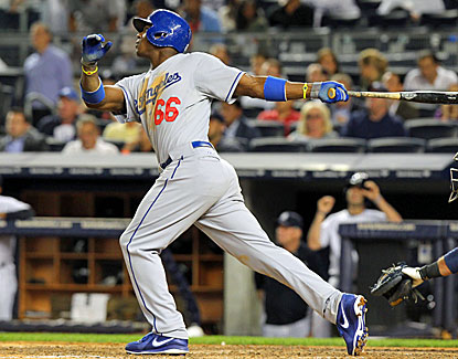 Dodgers rookie Yasiel Puig, the Cuban defector with 15 major league games of experience, hits his fifth homer. (USATSI)