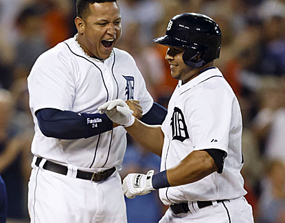 Jhonny Peralta hits a two-run homer off Andrew Bailey in the bottom of the ninth inning to win it for Detroit. (USATSI)
