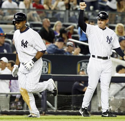 Rookie Zoilo Almonte has a memorable first start in the major leagues, hitting a home run at Yankee Stadium.  (USATSI)