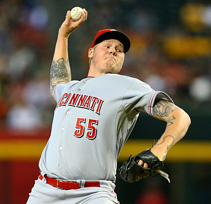Mat Latos goes 7 2/3 innings, striking out a career-tying 13 batters and yielding just one run en route to his seventh win. (USATSI)