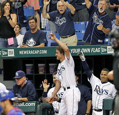 Wil Myers receives a standing ovation after hitting a home run in his first at-bat at Tropicana Field. (USATSI)