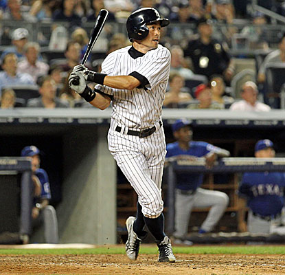 New York's Ichiro Suzuki wins it for the Yankees, beating the Rangers with his fourth home run of the season. (USATSI)