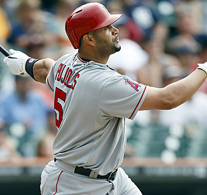 Albert Pujols hits a tiebreaking double in the 10th inning and the Angels beat Detroit 3-1. (USATSI)