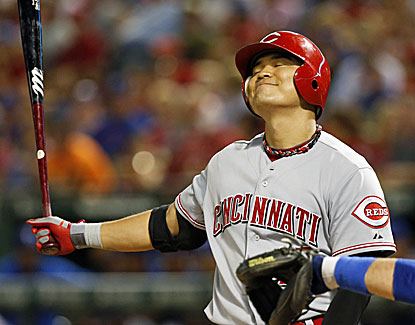Shin-Soo Choo and the Reds didn't have much success against Texas with just 8 hits and 16 left on base. (USATSI)