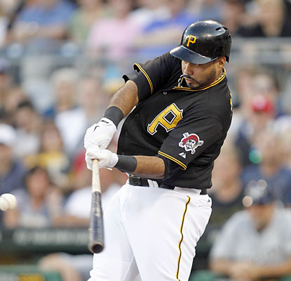 Pedro Alvarez hits his 20th home run of the season and extends his hit streak to 12 as he helps the Pirates keep on rolling. (USATSI)