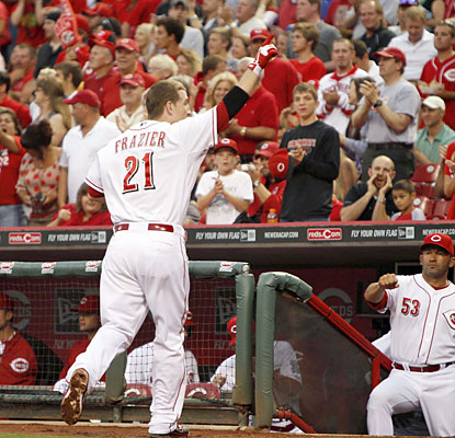 Todd Frazier finishes with a home run and four RBI to help power the Reds to victory. (USATSI)