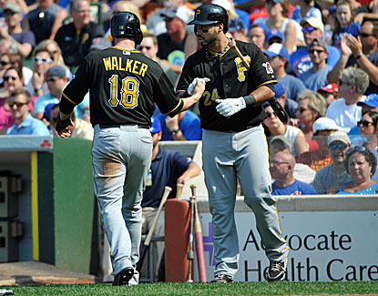 Neil Walker triples and comes around to score on Garrett Jones' RBI single as part of the Pirates' three-run third inning. (USATSI)