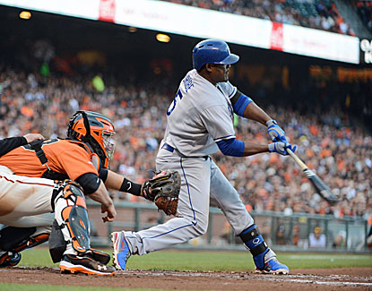 Juan Uribe ties a career high with seven RBI in the Dodgers' 10-2 rout of San Francisco. (USATSI)