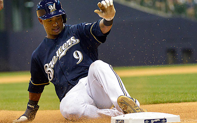 Brewers sparkplug Jean Segura leads the NL in hits and sits fourth overall in stolen bases.  (USATSI)
