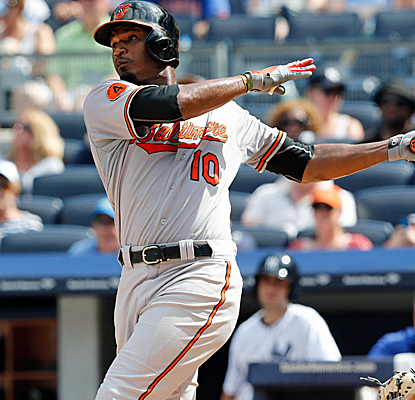 An Adam Jones two-run homer off Mariano Rivera in the ninth is all the offense the Orioles need.  (USATSI)