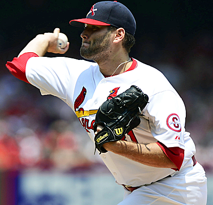Lance Lynn goes seven innings, earns his 11th victory and helps the Cardinals complete a sweep of the Marlins.  (USATSI)
