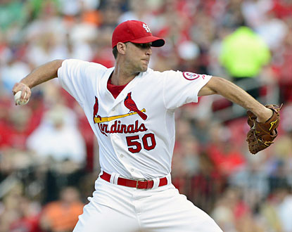 Adam Wainwright tosses seven scoreless innings and strikes out nine for his 12th win of the season.  (USATSI)