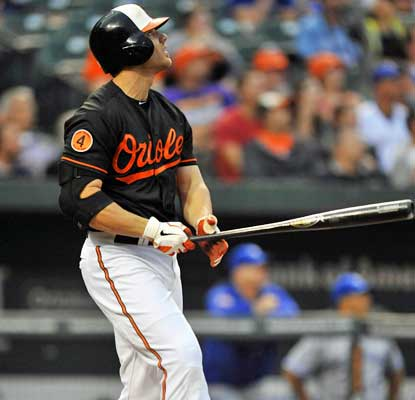 Chris Davis has 35 homers before the All-Star break, four behind the all-time mark set by Barry Bonds in 2001.  (USATSI)