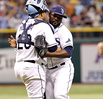 The Rays rally from a three-run deficit to knock off the Astros in Tampa.  (USATSI)