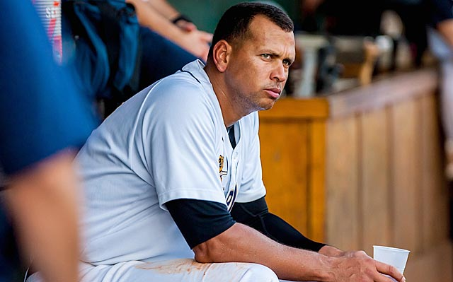 Even with Alex Rodriguez in the minors, he's a big subject in the center of the MLB universe.
