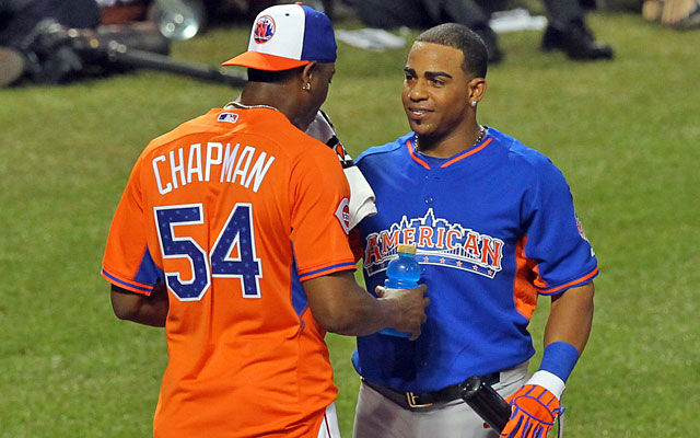Recent Cuban defectors Aroldis Chapman and Yoenis Cespedes aren't comfortable with their English yet. (USATSI)