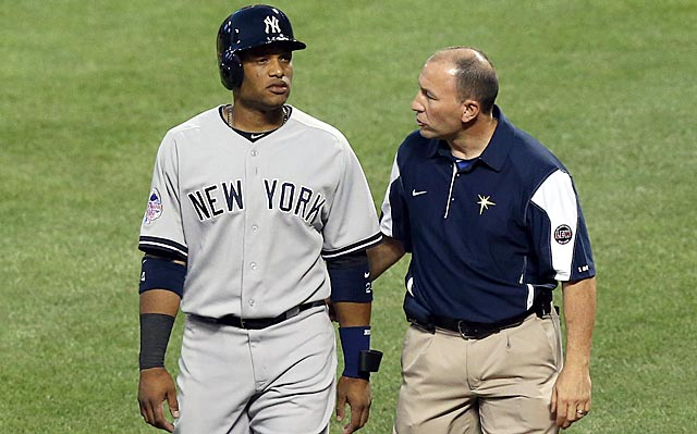A pitch that Robinson Cano takes dangerously close to his knee has the Yankees universe on high alert.