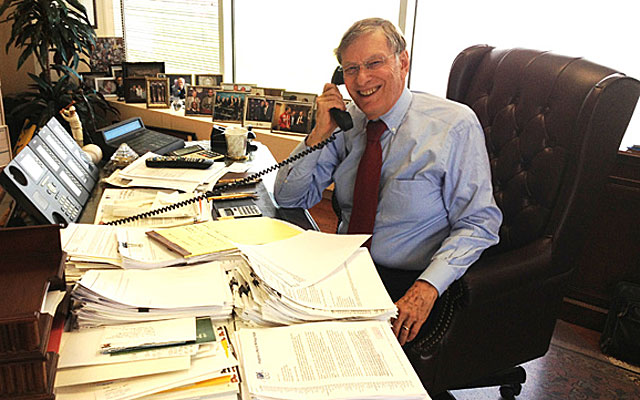 Bud Selig, 78, spends most of his working days in his Milwaukee office, on Lake Michigan. (CBSSports.com Original)