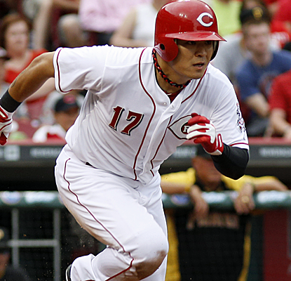 Shin-Soo Choo extends his hitting streak to a career-high 14 games as the Reds knock off the Pirates.  (USATSI)