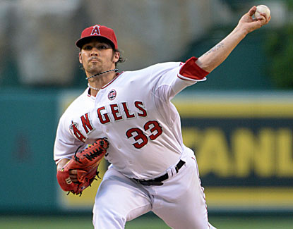 Angels starter C.J. Wilson gives up three hits in 8 1/3 innings, striking out eight and walking two. (USATSI)
