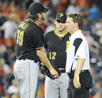 The Pirates earn the win but might have suffered a costly loss as closer Jason Grilli exits with an apparent arm injury. (USATSI)