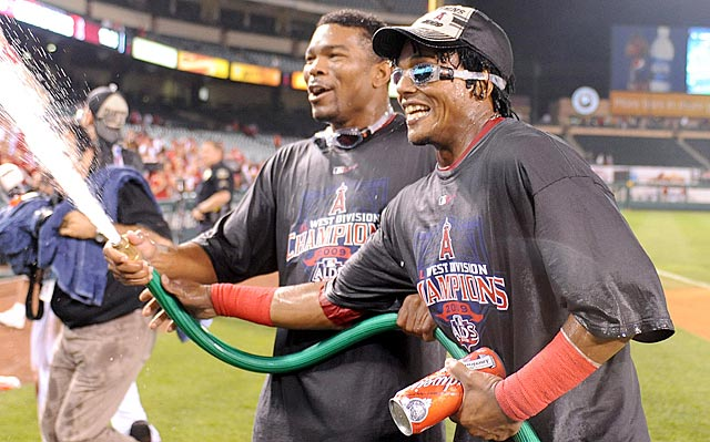 Howie Kendrick (left) and Erick Aybar had some good times together with the Angels, but they might be over soon.