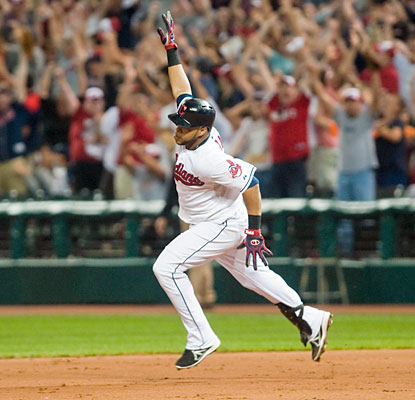 Carlos Santana ends the game with a walk-off home run to lead off the bottom of the 10th inning. (USATSI)