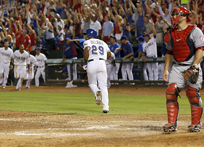 Adrian Beltre and the Rangers beat the Angels via walk-off in each game of the series to complete the sweep. (USATSI)
